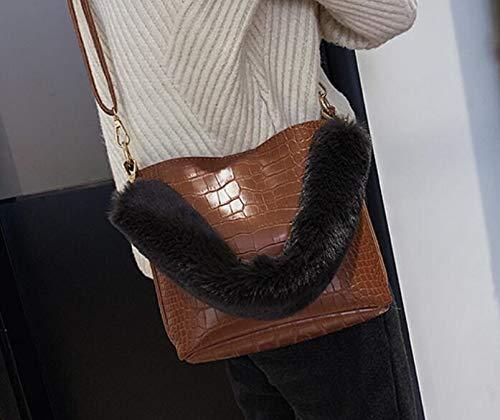 DJBMENG Mode Eimer Tasche 2019 Neue Qualität Pu-Leder Damen Designer Designer Designer Handtasche Krokoprägung Tote Schulter Umhängetasche B07QQMF9MG Damenhandtaschen Won hoch geschätzt und weithin Grünraut im in- und Ausland Grünraut 7b7563