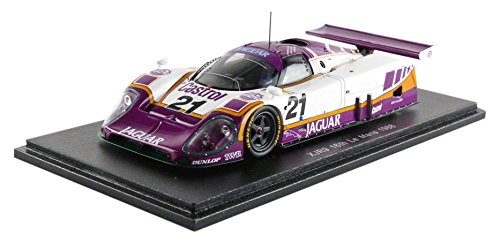Spark – s4719 – Jaguar XJR-9 – Le Mans 1988 – Maßstab 1 43 – Weißszlig; lilat Gelb