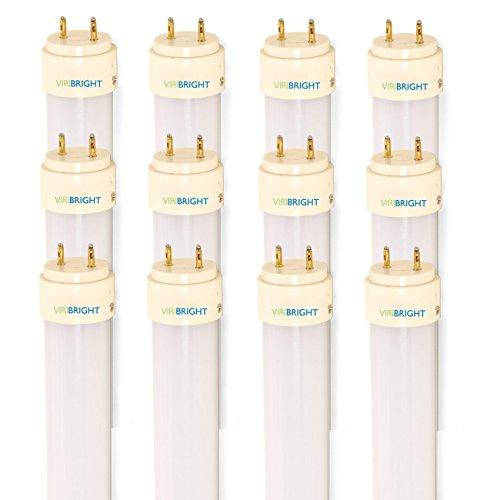 Viribright 12 Pack T8 LED Tube Light 4ft 48