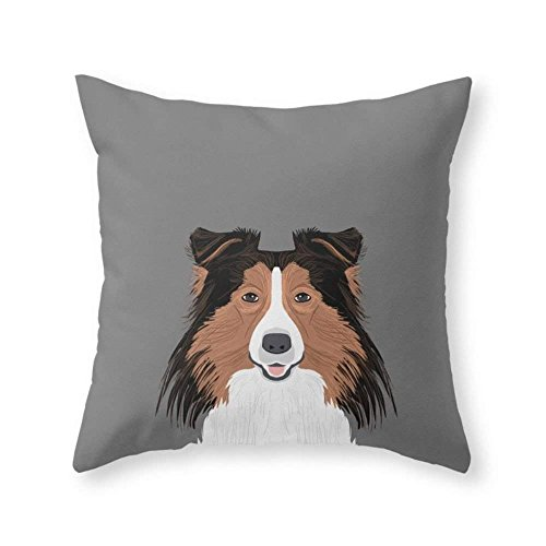Home Decoration Jordan - Shetland Sheep Dog Gifts for Sheltie Owners and Dog People Gift Ideas Perfect Dog Gifts Throw Pillow Indoor Cover (18