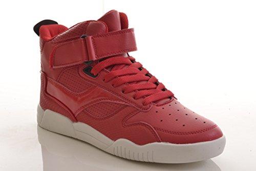 Hightop Sneaker Sportschuhe Basketballschuhe Lederoptik Schnürer Mizan C2008-8 red