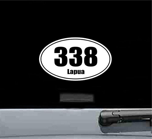 - JS Artworks 338 lapua Oval Vinyl Decal Sticker Ammo Bullet Gun Rifle Pistol
