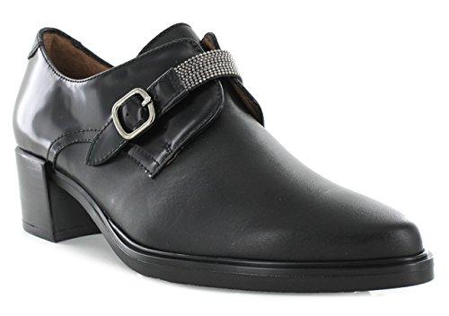 Hispanitas-Zapato cerrado negro hebilla Negro