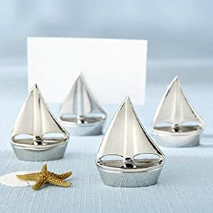 silver boat place card holders set of 4 style 11044na