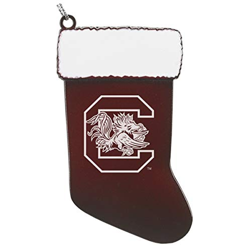 University of South Carolina - Chirstmas Holiday Stocking Ornament - Burgundy
