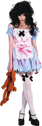 Bristol Novelty Ladies Halloween Horror Fancy Dress Party Outfit Zombie School Girl Costume