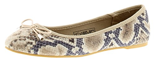 Wynsors Rea Womens Flats Natural Snake - Natural Snake - UK Sizes 3-8