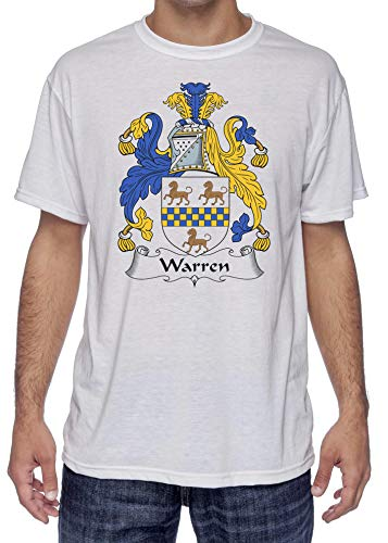 Warren Coat of Arms-Family Crest, Moister Wicking Sports T-Shirt Large White