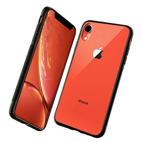 BRG コンパチブルiphone XR ケース,6.1インチ 耐衝撃 PC背面 傷なし クリア TPUバンパー(炭酸繊維添加) 薄型 滑り止め iphoneXR ケース ワイヤレス充電対応(iphone xr)