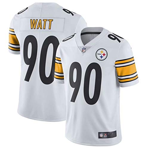 Men's #90 T.J. Watt Pittsburgh Steelers Limited Jersey White