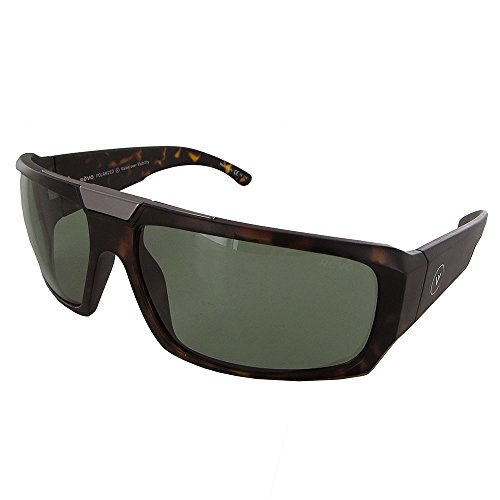 Revo Bono Collection Apollo RB 1004 02 BGR Wrap Sunglasses, Matte Tortoise Green, 61 mm Apollo Matte