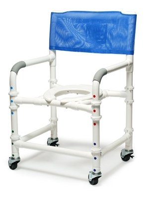 Lumex 89200-KD PVC Knock-Down Shower Commode Chair, 22