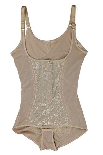 Franato Women'sBodyBrieferWearYourOwnBraZipperShaperBodysuit Nude - Classic Firm Control Bodysuit