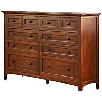A-America WSLCB5510 Westlake 10 Drawer Master Dresser, Cherry Brown Finish