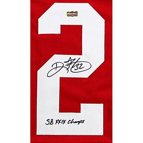 e78d6adab6e Ricky Watters Autographed Signed San Francisco 49ers Red Custom Jersey With