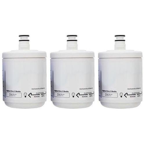 Replacement Water Filter Cartridge for LG Refrigerator Models LSC27921SB03 / LSC27925ST (3 Pack)
