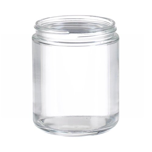 Wheaton W216921 Clear Glass 8oz Straight Sided Jar, without 70-400 White Polypropylene Poly-Vinyl Lined Screw Cap (Case of 24) ()