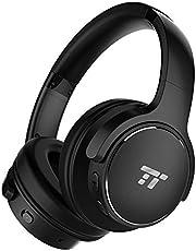 TaoTronics Active Noise Cancelling Kopfhörer 30 Stunden Bluetooth Kopfhörer, Kabelloses ohrumschließendes Headset, dualen 40 mm Treibern Kabellos Kopfhörer mit Tiefem Bass und Mikrofon