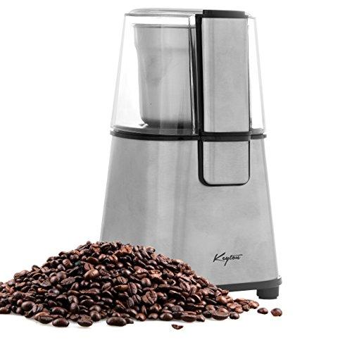 Keyton Electric Coffee Bean Grinder, Silver, 60 grams