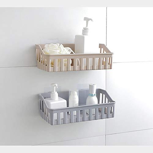 (Elevin(TM)  Kitchen Bathroom Wall Storage Shelf Hanging Rack Corner Basket Holder Organizer)