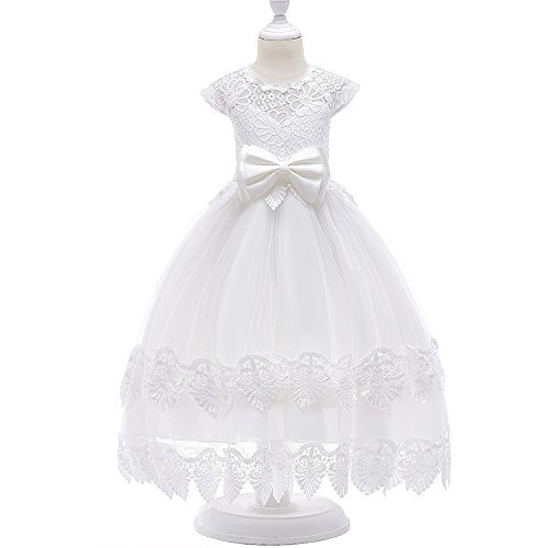 LZH Girls Wedding Dress Princess Pageant Embroidery Ball