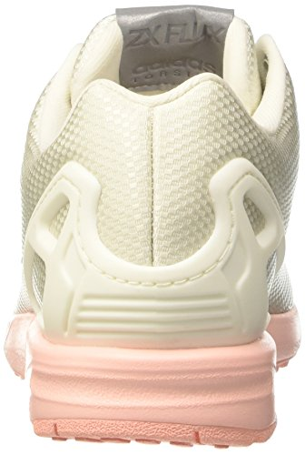Zx Silver White metallic Coral Flux Sneakers Femme ftwr sld Blanc Adidas Basses Beige haze dSwvndqC