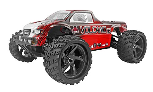 - Redcat Racing Volcano-18 V2 Electric Monster Truck with Waterproof Electronics (1/18th Scale), Red