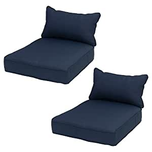 ThresholdTM Outdoor Seat Cushion Polyester Navy
