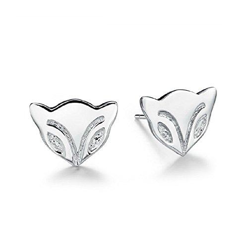 The November Nocturne Silver Plated Loveliness Fire Fox Women Stud Earring (Smart Bracelet Razer)