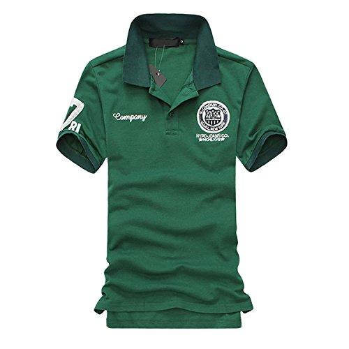 増幅する陰謀パウダーSHEYA ポロシャツ メンズ 半袖 ボタンダウン 胸刺繍 スポーツ ウェア ゴルフウェア メンズ ポロシャツ 白 夏
