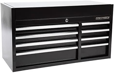 "OEMTOOLS 24582 Black 41"" 8 Drawer Top Chest"