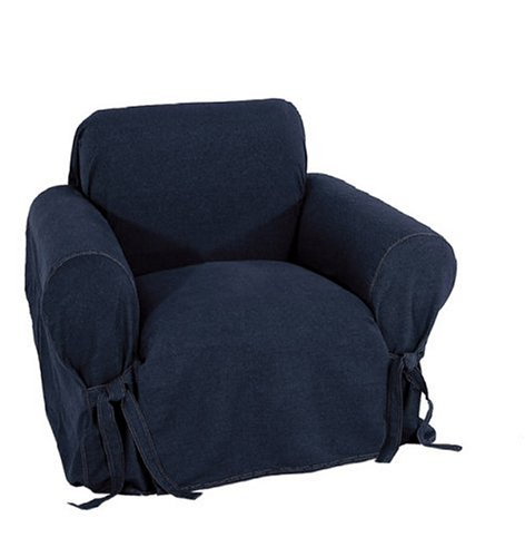 Classic Slipcovers Dark Denim Chair ()