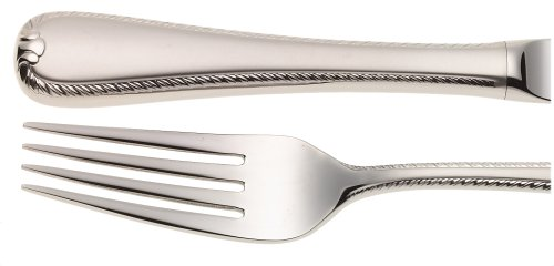 Gorham Silver Flatware Patterns - Gorham Ribbon Edge Frosted 5-Piece Stainless Steel Flatware Place Setting, Service for 1