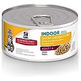 Hill's Science Diet Wet Cat Food, Adult, Indoor, Savory Chicken Entrée, 5.5 oz, 24-pack
