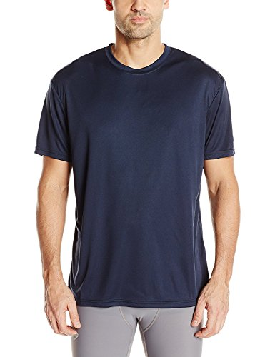 Craft Sportswear Mens Essential Tee Shirt Moisture Wicking, Lightweight Technical T Shirt Navy, X-Large