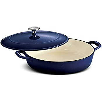 Tramontina Enameled Cast Iron Covered Braiser, 4-Quart, Gradated Cobalt