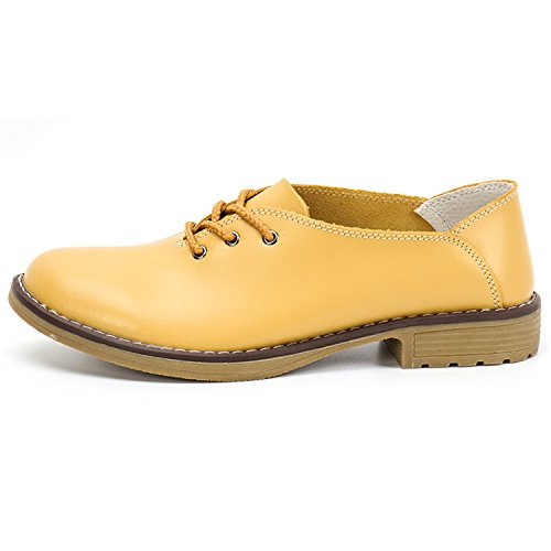 Handmade Women Flats Genuine Leather Oxfords Shoes Woman Ballets Flats Casual Women As Photos 8.5