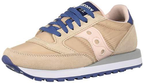 Saucony Originals Women's Jazz Original Sneaker, tan/Blush/Blue, 10 M US (Saucony Originals Women Size 10)