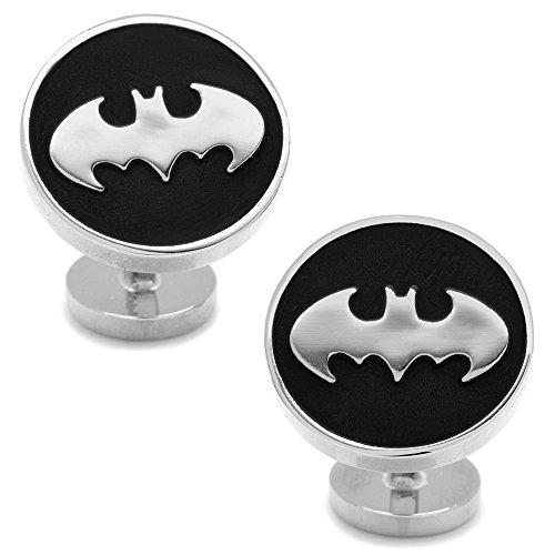 DC+Comics Products : DC Comics Men's Recessed Black Batman Cufflinks (DC-BMR-BK)