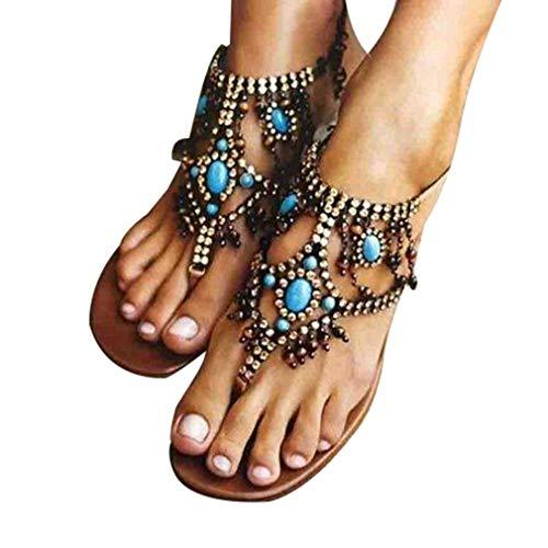 Mujer Marrón Marrón Mares Bohemias Zapatos Playa 43 Cabeza Redonda Sandalias Planas Sandalias Romanas de 35 de Sandalias Chancletas dgAxwqfTd