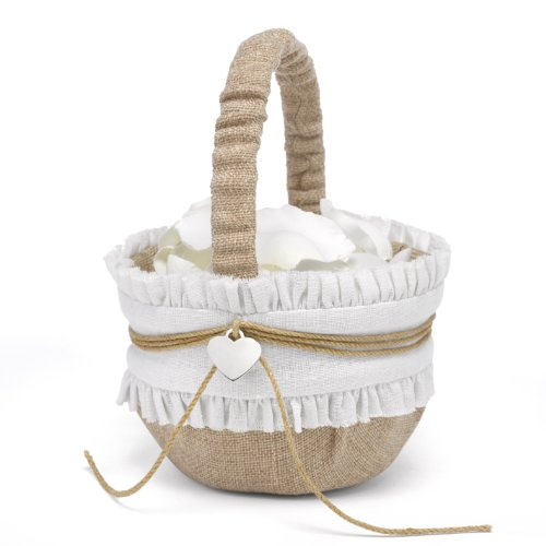Hortense B. Hewitt Rustic Romance Wedding Accessories, Flower Basket