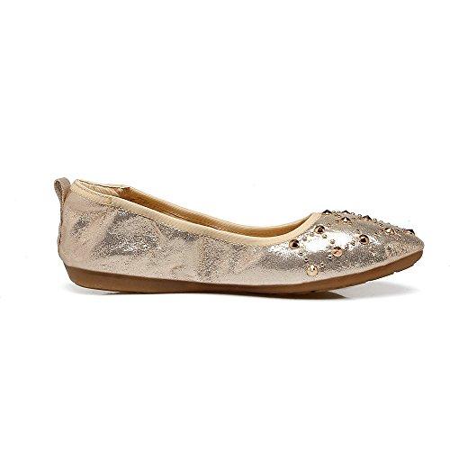 Scarpe Donna A Ballet VogueZone009 Punta Tacco Alto Plastica Puro Flats Tirare xXwnfqpO