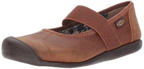 KEEN Women's Sienna mj Leather-w Fashion Sneaker, Grand Canyon/Monks Robe, 10 M US