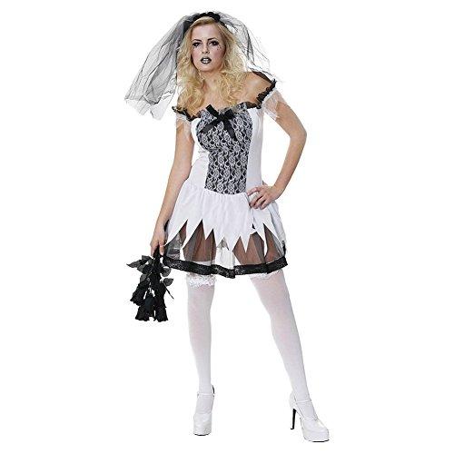(Sexy Zombie Bride Fancy Dress Costume)