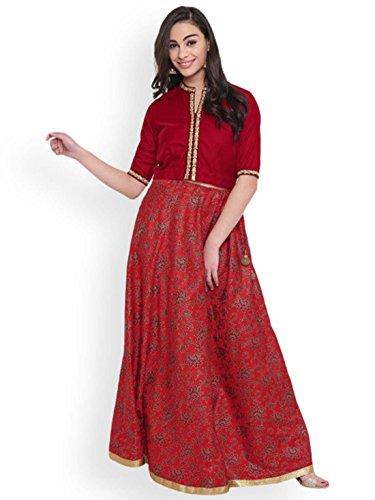 Studio Block Skirt Printed Women rasa Bhagalpuri Hand 7Ir7qw