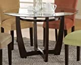 Cheap Bloomfield Round Glass Top Dining Table by Coaster