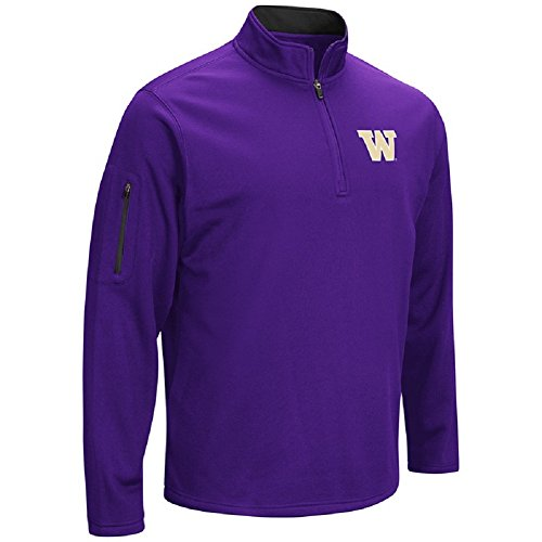 Washington Huskies Tailgate Cooler (Colosseum Men's VF Poly Fleece 1/4 Zip Pullover-Washingotn Huskies-Purple-Medium)
