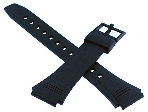 - CASIO 10079756 Resin Watch Band for DATABANK DB-36 DB36 DB36-1AV DB36-9AV, Black