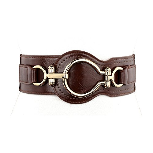Leather Waist Cinch (NormCorer Womens Wide Elastic Waist Cinch Belt)