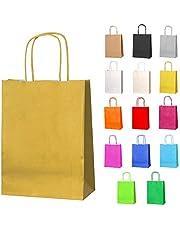 Thepaperbagstore kleine papieren feesttassen, geschenken en zoete tassen met draaihandvatten - KIES UW KLEUR EN KWANTITEIT